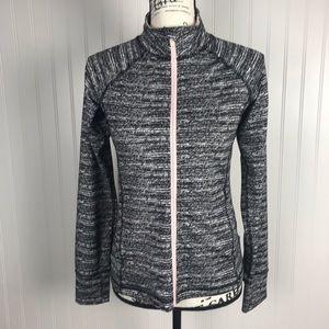 Ideology Women's Active Zip-Up Jacket Pink Trim